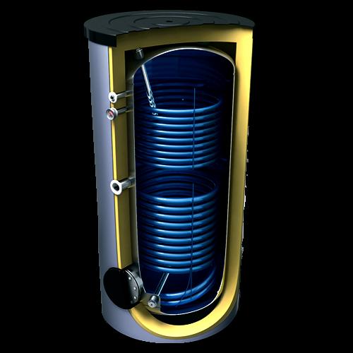 Бойлер для горячей воды с 2 теплообменниками Tesy 2000л