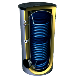 Бойлер для горячей воды с 2 теплообменниками Tesy 300л