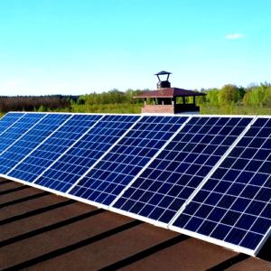 Гибридная солнечная электростанция 2 кВт